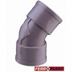 CODO PVC GRIS HM.-HM. 45º...