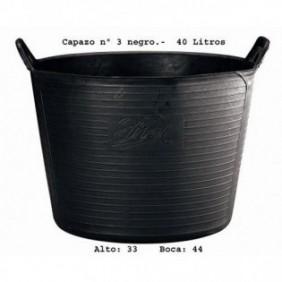 CAPAZO PLASTICO Nº3 NEGRO...